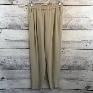 Eileen Fisher Beige High Rise Ankle Pants XS
